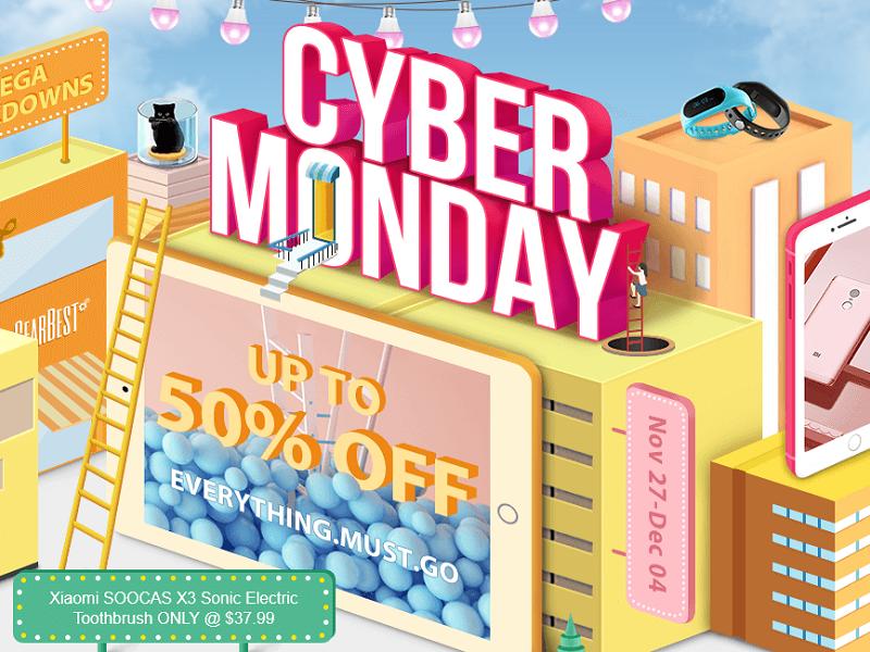 Cyber Monday de Gearbest