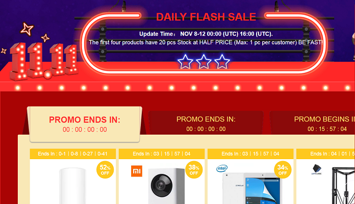 Gearbest Flash Sale 11.11