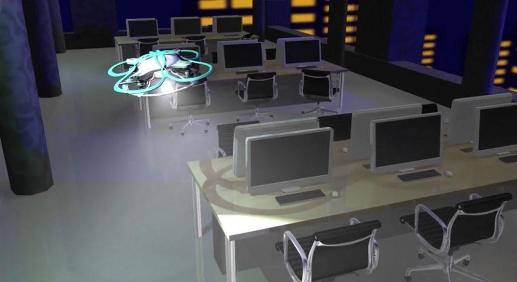 Dron para controlar las horas extras