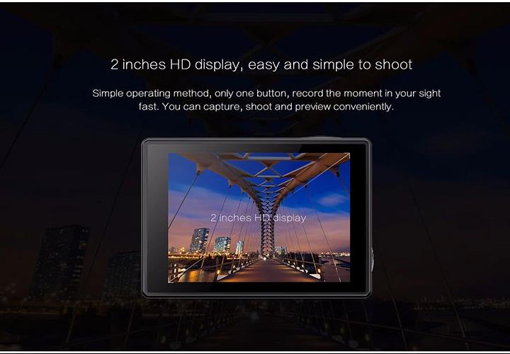 Elephone REXSO posee una pantalla de 2 pulgadas para previsualizar