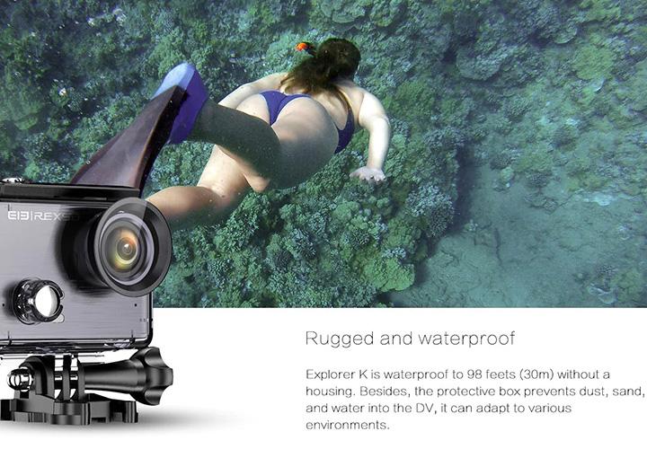 Elephone REXSO puede ser sumergida hasta 30 metros en el agua