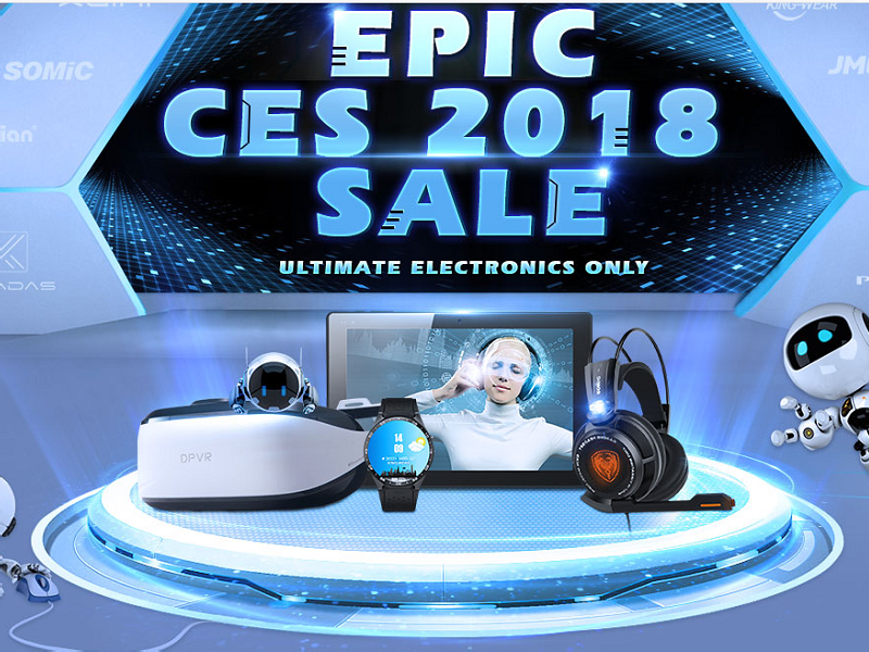 Ventas épicas del CES 2018 en Gearbest