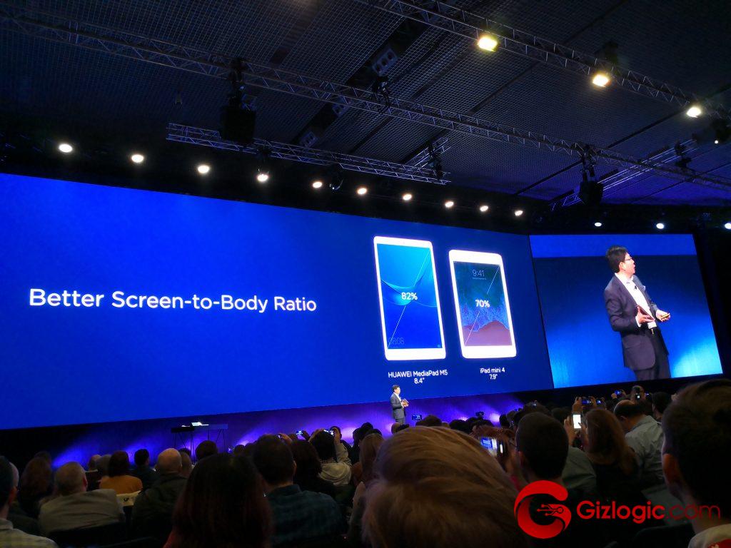 Huawei MediaPad M5, aspecto