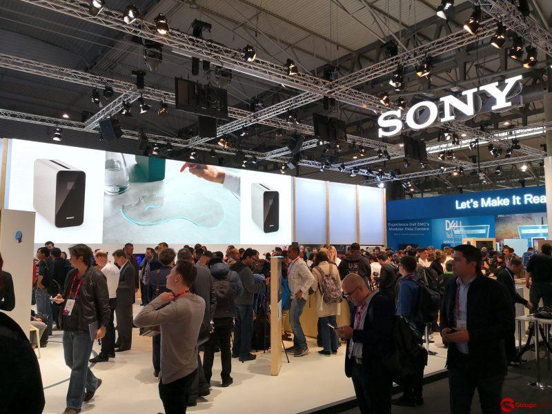Imagen del stand de Sony en el MWC 2018