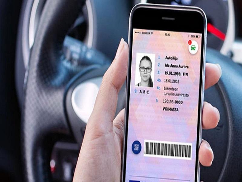 carnet de conducir en una app