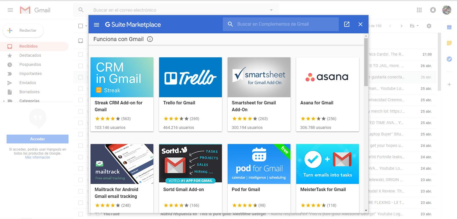 Gmail Gsuit Marketplace