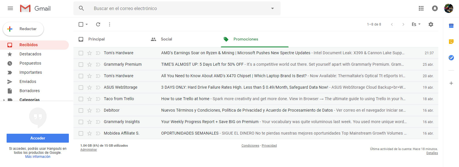 Gmail - Rediseño