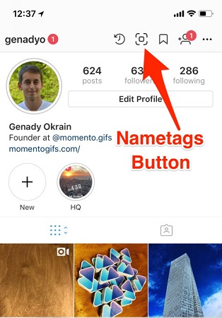 Instagram Nametags