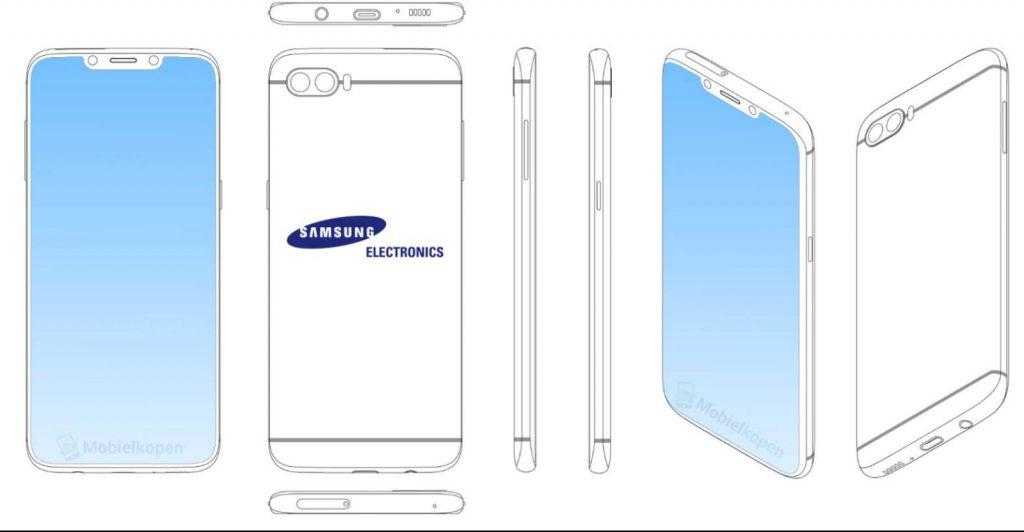 Samsung registra una patente que revela su interés en el Notch de Apple