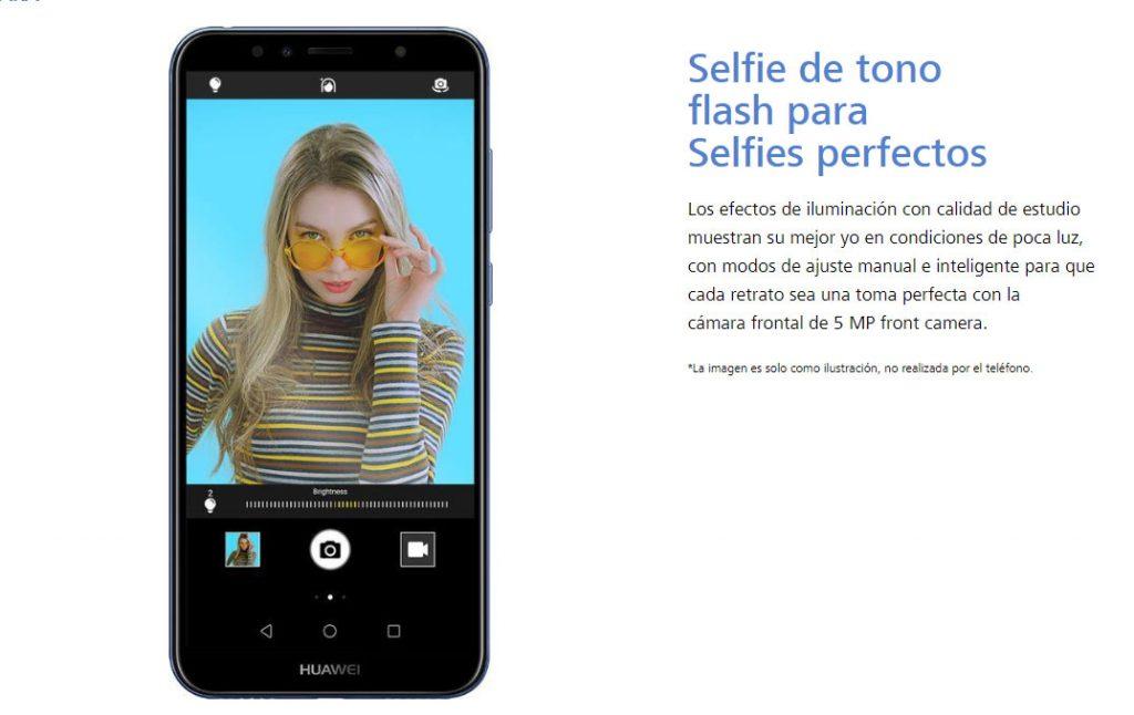 Características del Huawei Y6 - cámara selfie
