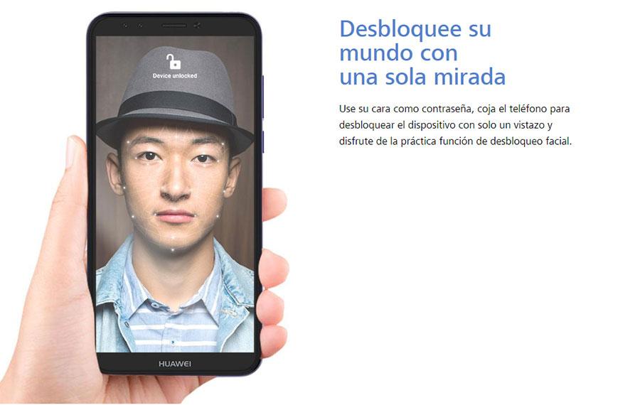 Características del Huawei Y6 - reconocimiento facial