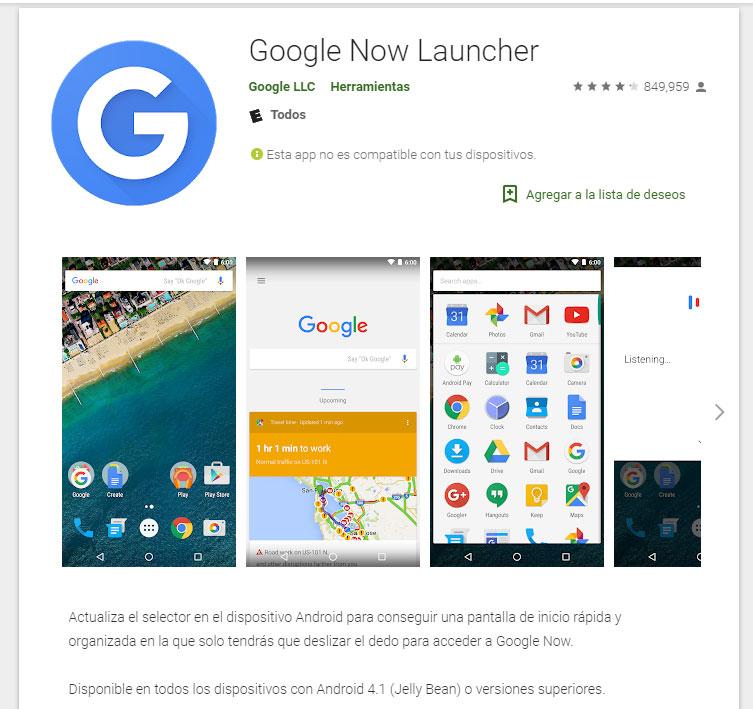 El fin de GoogleNowLauncher