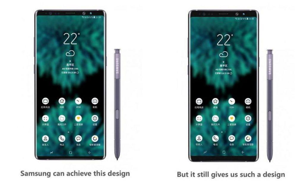 Samsung Galaxy Note 9 - Diseño conceptual de Universe Ice
