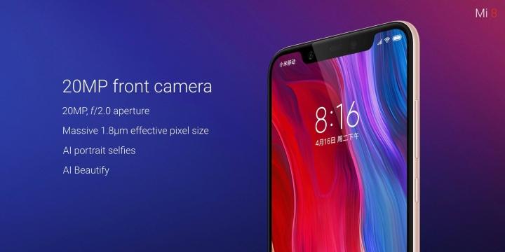 Xiaomi Mi 8 - Cámara frontal