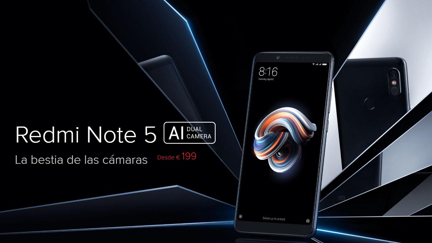 Xiaomi Redmi Note 5 - Ya disponible para España