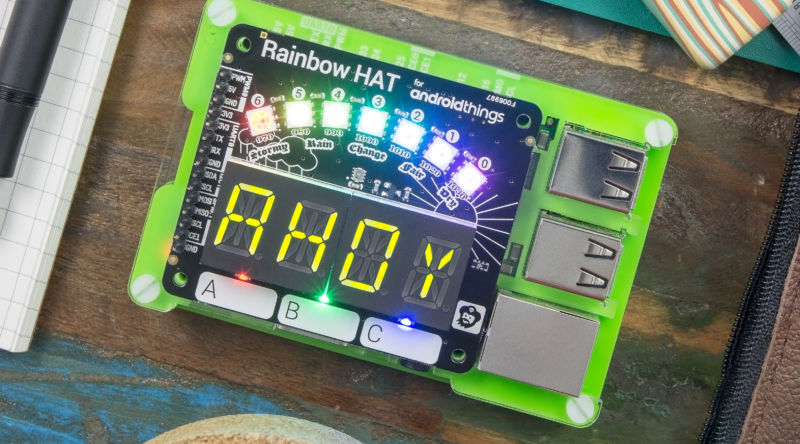llega Android Things 1.0 - Rainbow hat