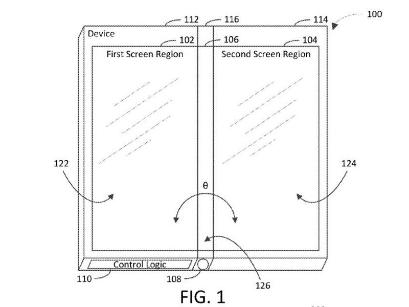 móvil con tres pantallas microsoft