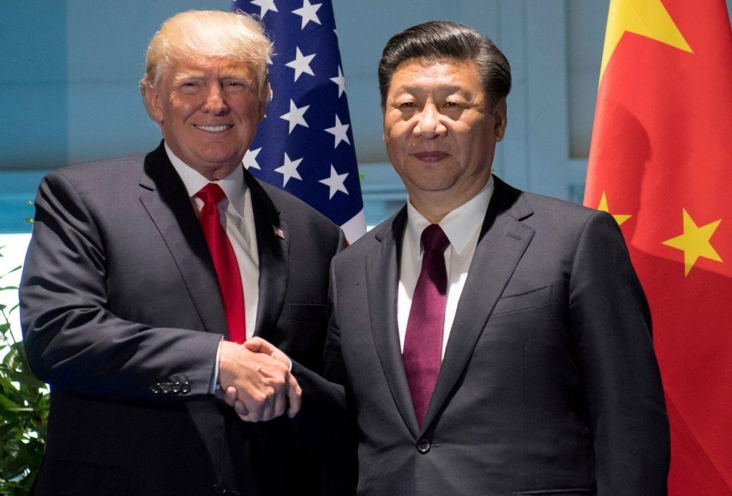 Donald Trump y el Presidente Chino Xi Jinping