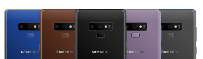 colores del Samsung Galaxy Note 9 - copia