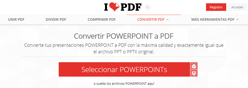 convertir ppt a pdf