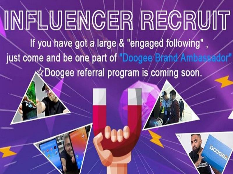 doogee busca influencers