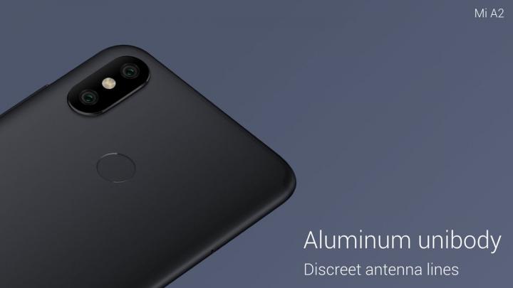 El Xiaomi Mi A2 presenta una pantalla FHD+ de 5,99 pulgadas y cuerpo de aluminio