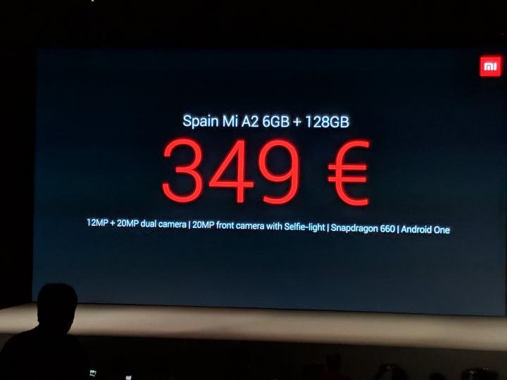 Precio del Xiaomi Mi A2