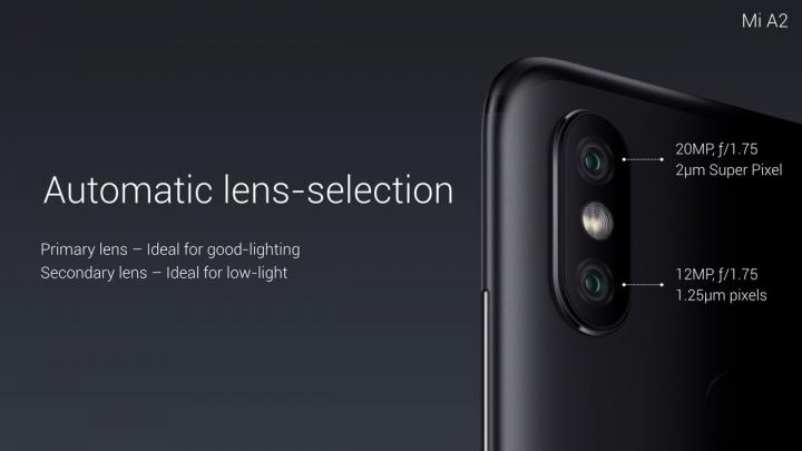 Xiaomi Mi A2 - cámaras duales