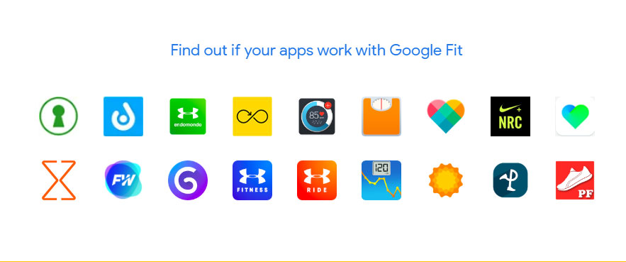 Google Fit - apps compatibles
