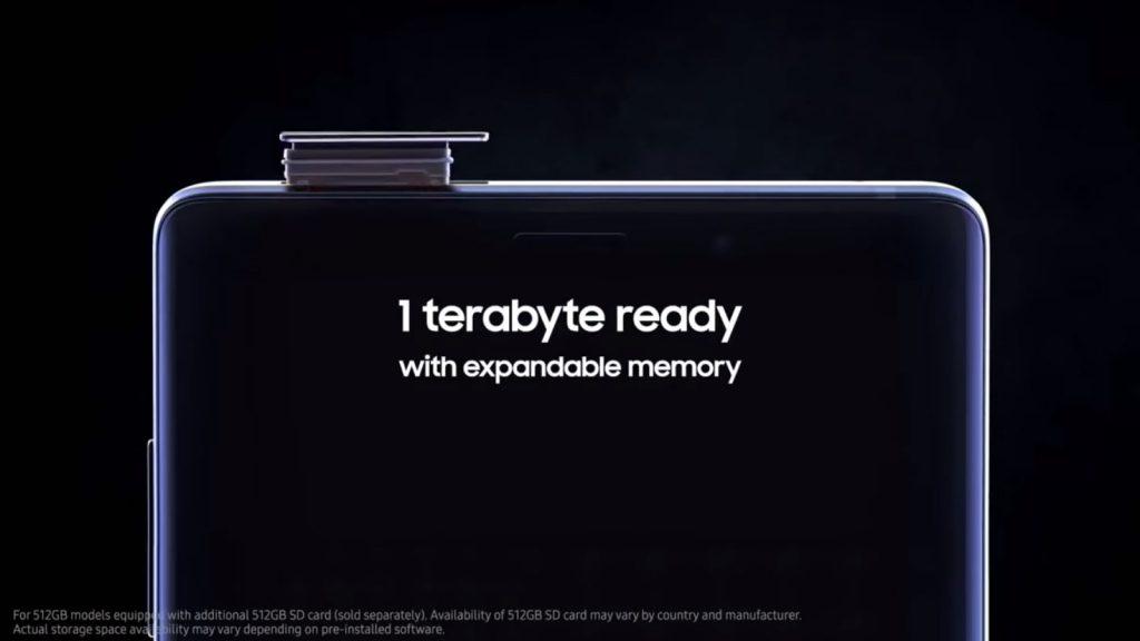 Samsung Galaxy Note 9 - 1TB de almacenamiento