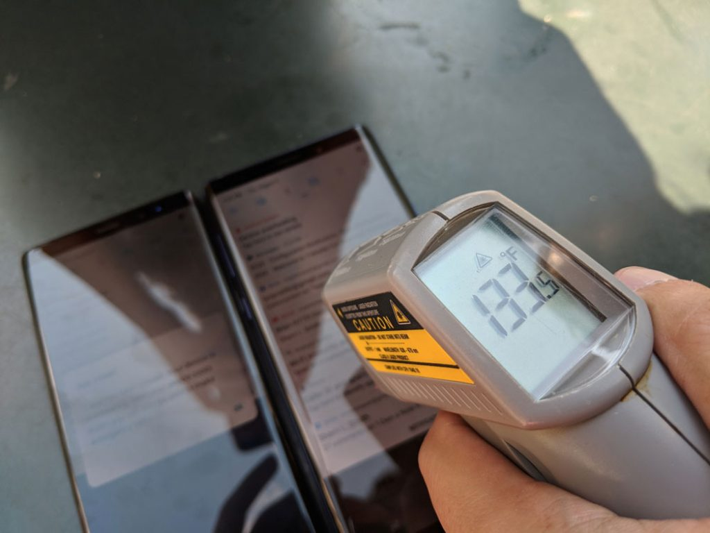 Samsung Galaxy Note 9 y Galaxy Note 8 - Temperaturas