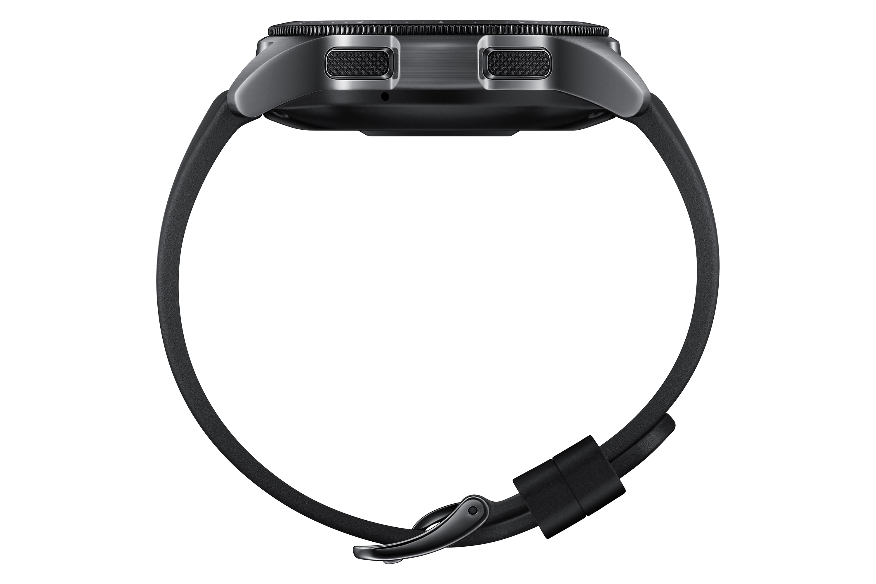 Samsung Galaxy Watch Negro Perspectiva de Medianoche Lateral