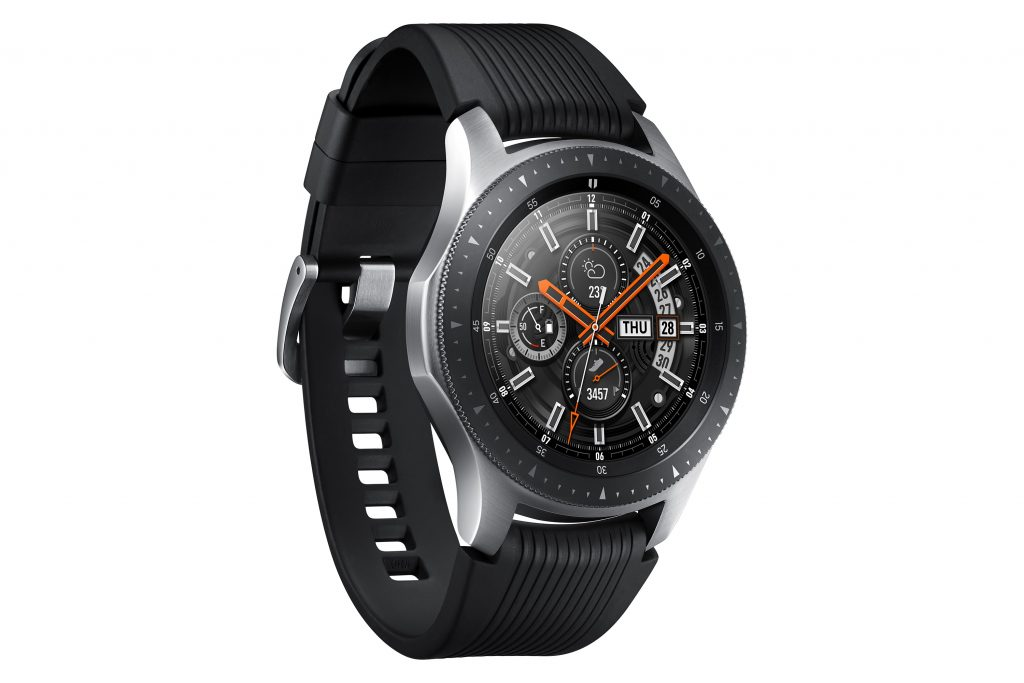 Samsung Galaxy Watch Perspectiva Plateado