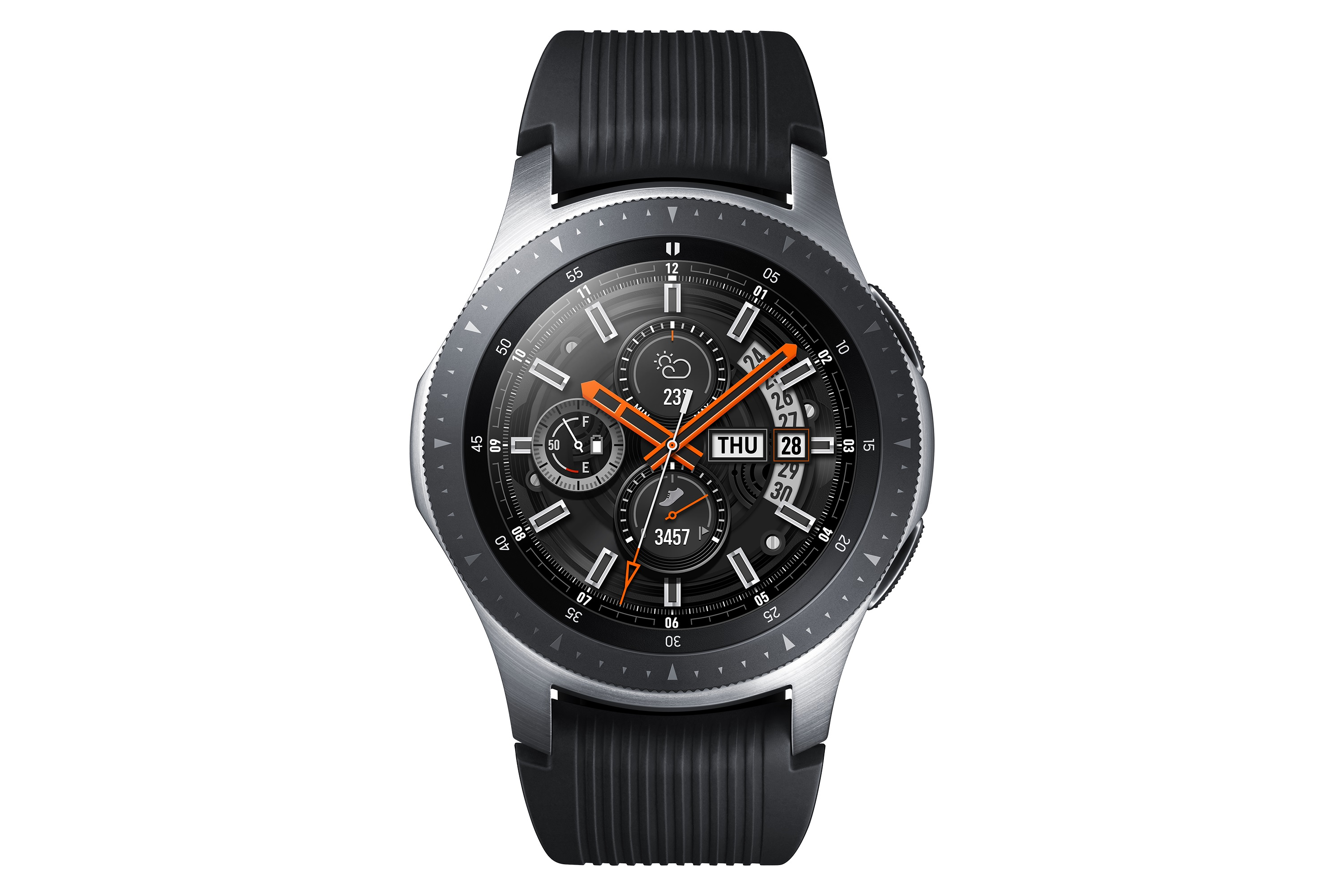 Samsung Galaxy Watch Perspectiva Plateado Frontal