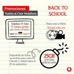 Vuelta al cole con Vodafone, disfruta de un año de TV gratis y los mejores paquetes