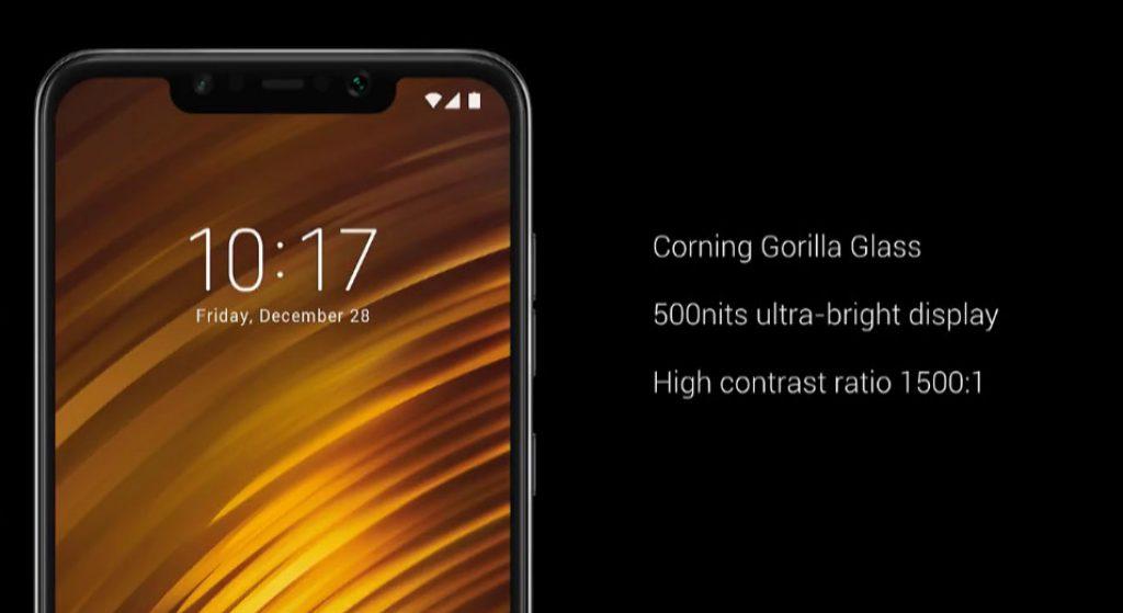 Xiaomi Poco F1 pantalla