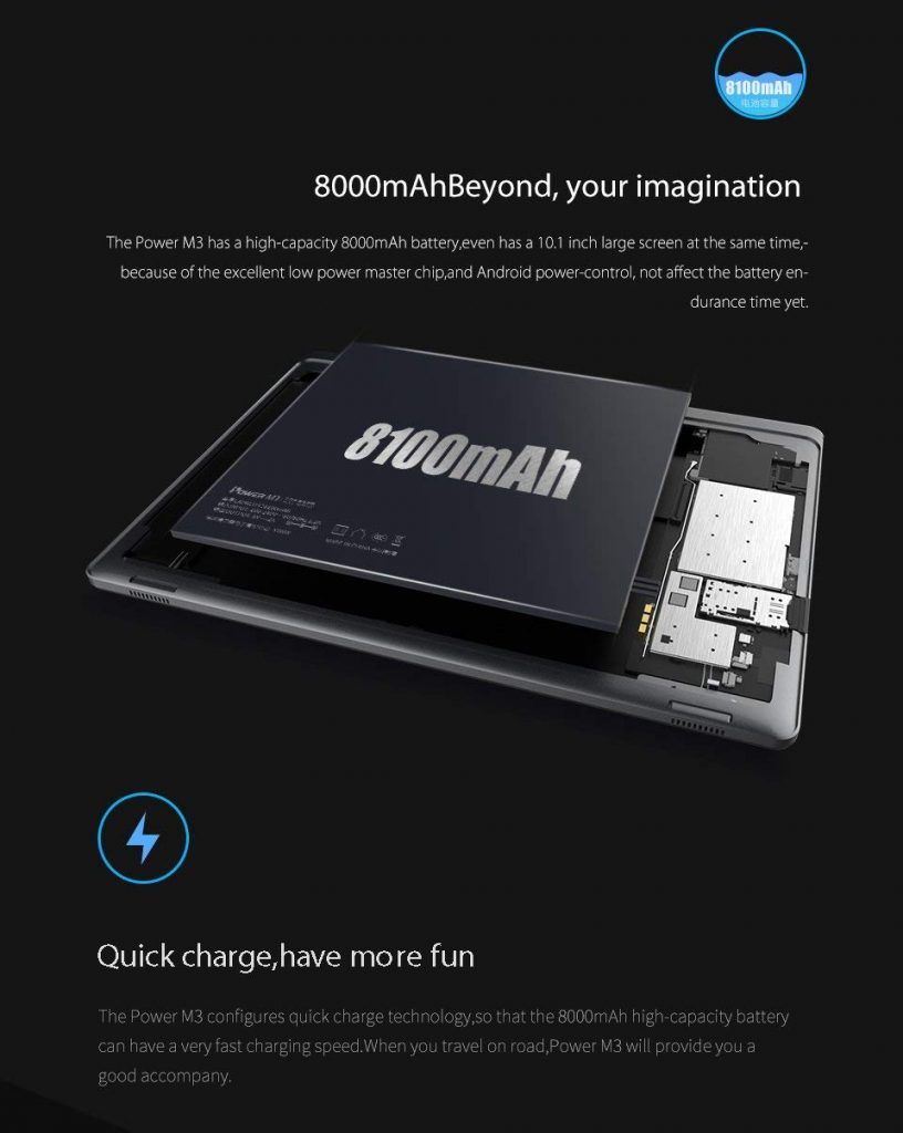 ALLDOCUBE Power M3, bateria