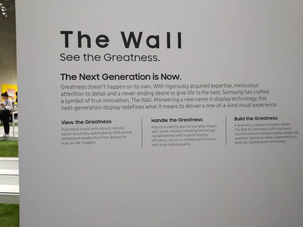 Explorando elCityCubedurante el stand de Samsung en el IFA 2018 - The Wall