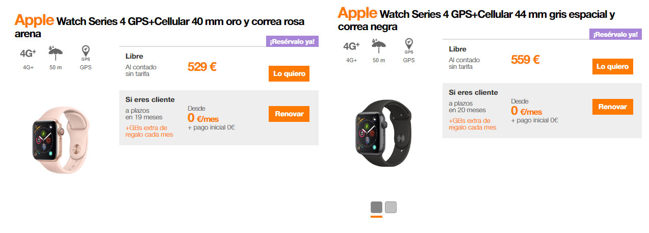 Preventa Apple Watch Series 4 Orange