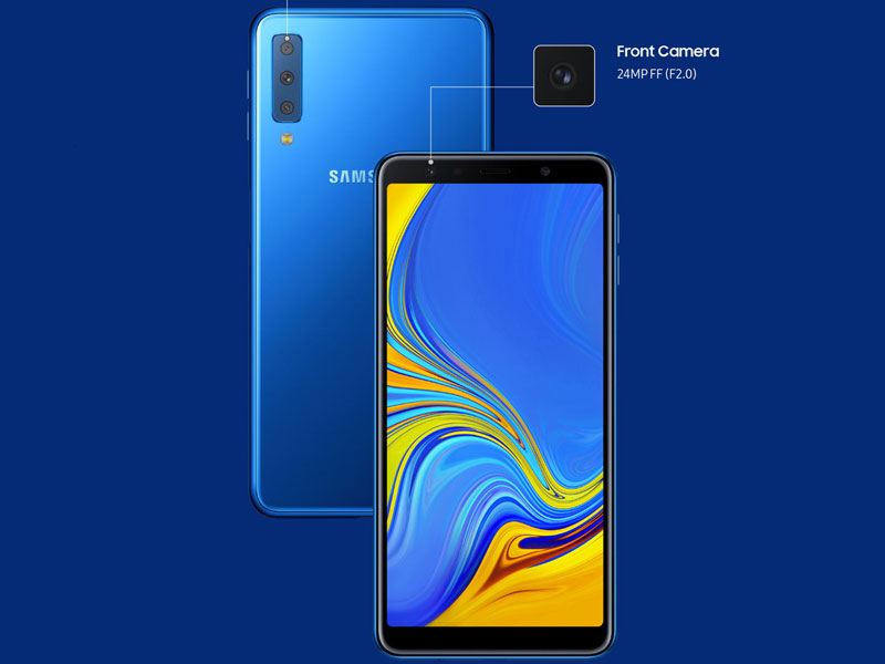 Samsung Galaxy A7 2018, un impresionante gama media con cámara triple