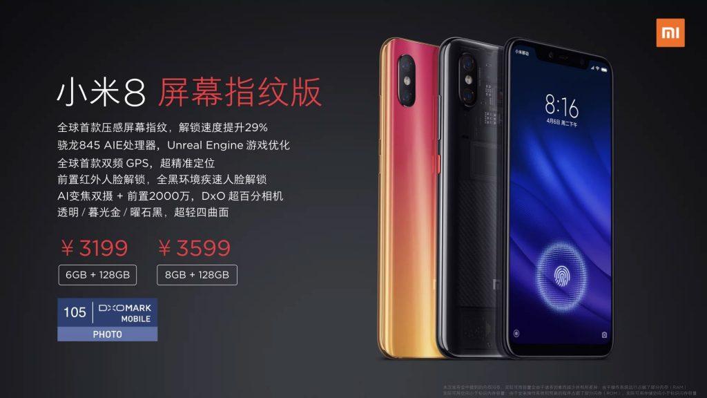 Xiaomi Mi 8 Pro - Disponibilidad y precio