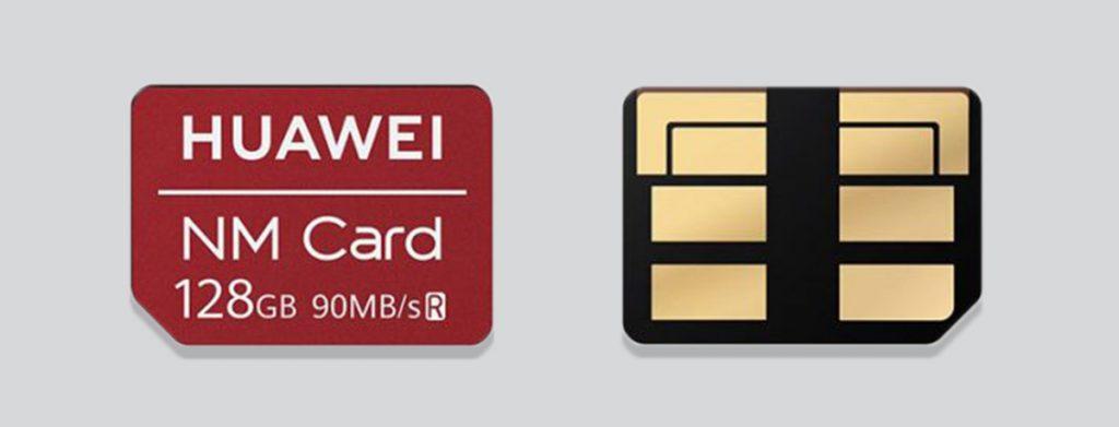 Tarjetas NM Card de Huawei - Comparación con Nano-SIM