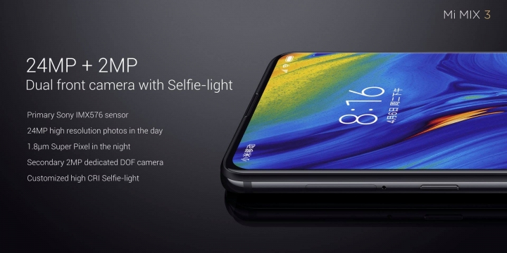 Xiaomi Mi MIX 3 - cámara frontal
