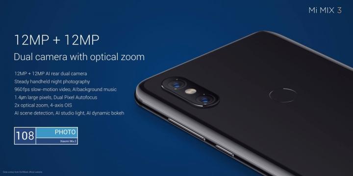Xiaomi Mi MIX 3 - cámara trasera