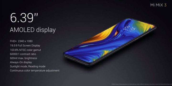 Xiaomi Mi MIX 3 - pantalla