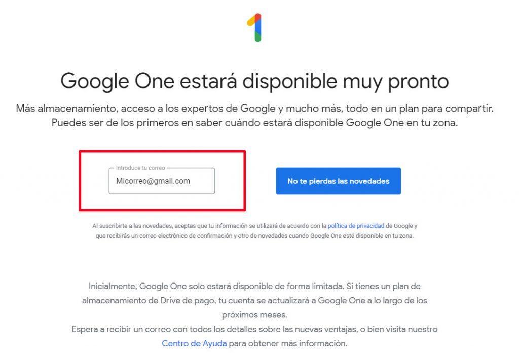 Google One está aquí, estos son sus beneficios y tarifas