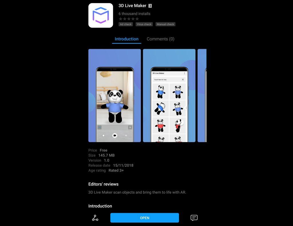 Huawei 3D Live Maker - app