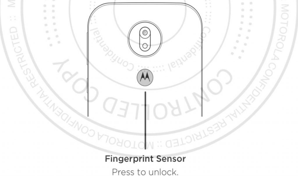 Moto G7 Play - cubierta trasera