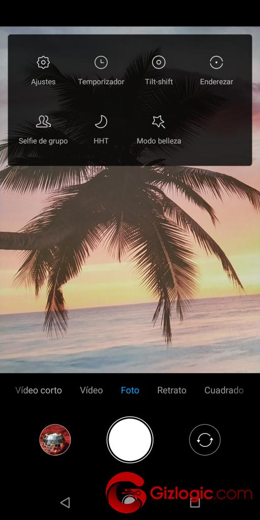 Xiaomi MiA2 ModoFotoCamaraTraseraMasOpciones
