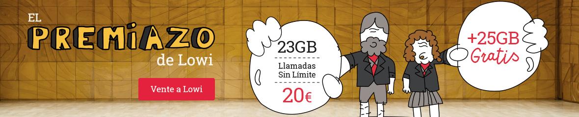 25 GB gratis Lowi